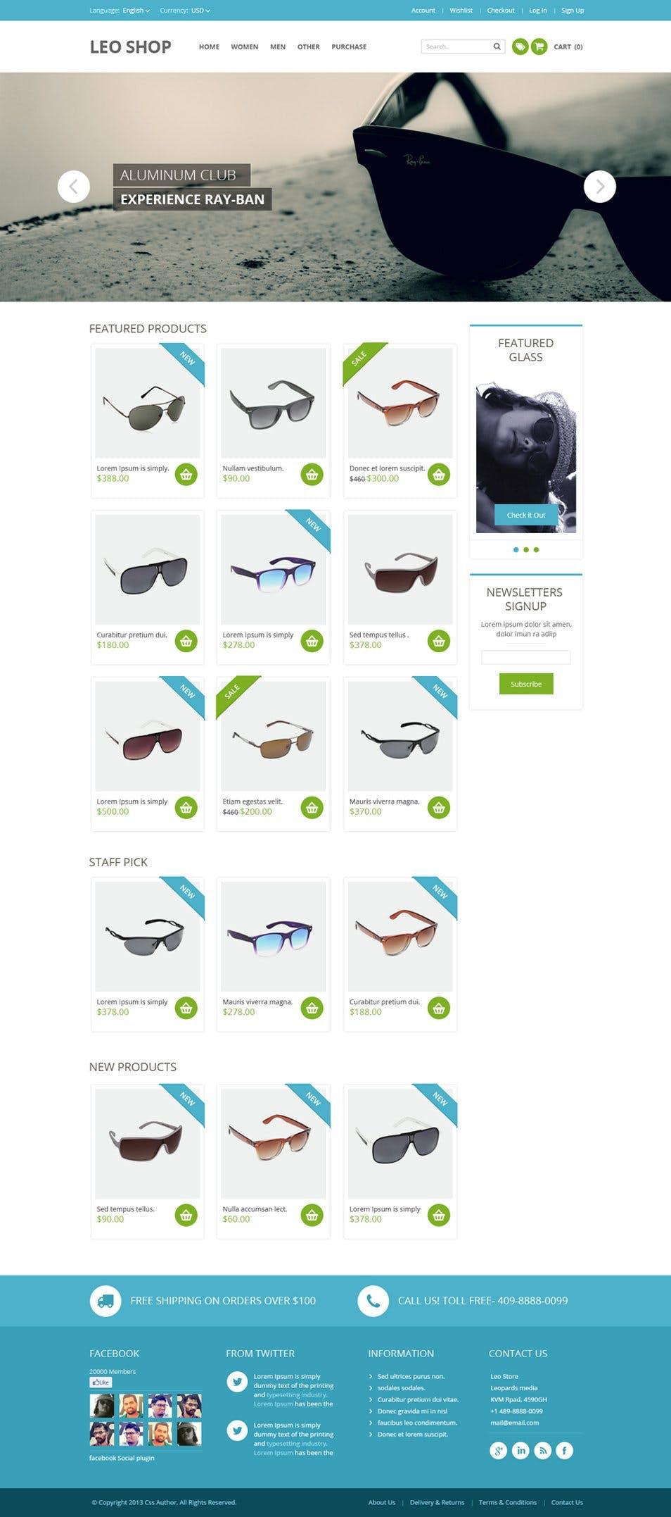 Online Templates | Free Online Shop Website Template Psd Web Templates T3n