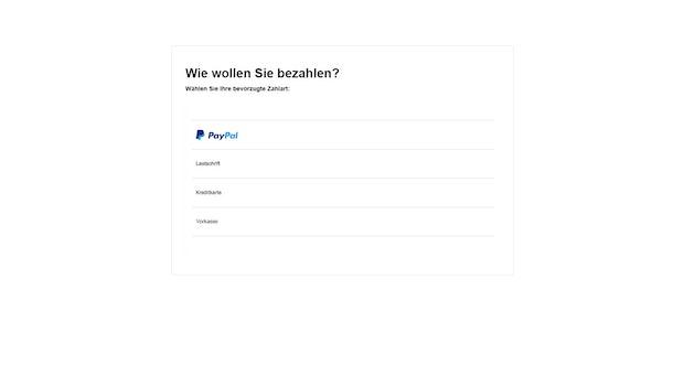 Screenshot: Paypal