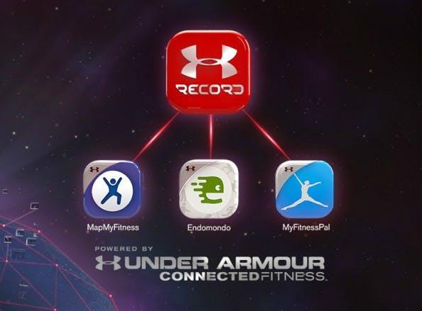 Neue Fitness-Apps im Under-Armour-Netzwerk. (Grafik: MyFitnessPal)