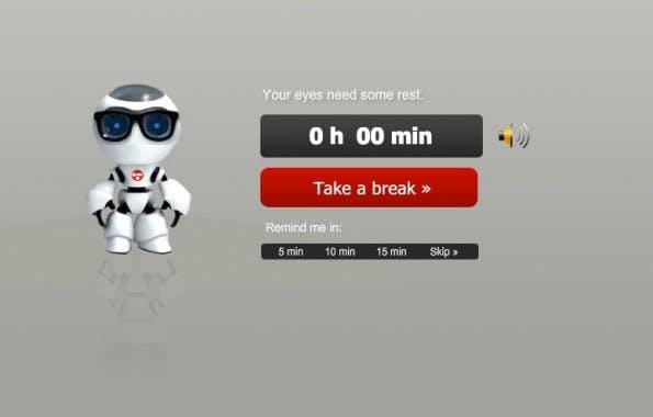 Protectyourvision sagt euch beschied, wenn eure Augen eine Pause brauchen. Die Intervalle könnt ihr selbst festlegen (Screenshot: protectyourvision.com)