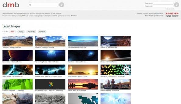 dmb: Keine Filter aber eine nette Auswahl an Desktop-Hintergründen. (Screenshot: dmb)