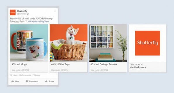 Products-Ads: Neues Anzeigenprodukt bei Facebook. (Grafik: Facebook)