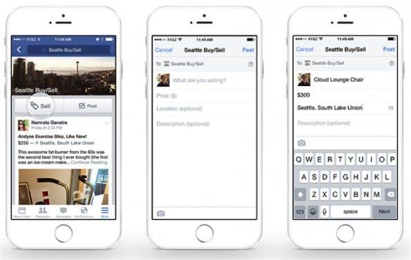 Mit der neuen Funktion soll es einfacher werden, Artikel in Facebook-Gruppen zu verkaufen. (Grafik: Facebook)