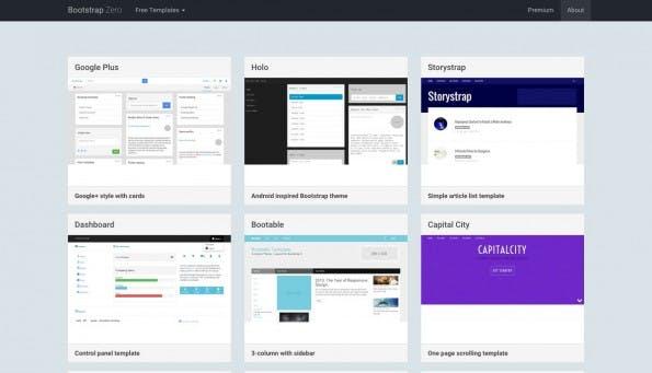 Bootstrap Zero sollte eure erste Anlaufstelle für kostenlose Bootstrap-Themes sein. (Screenshot: Bootstrap Zero)