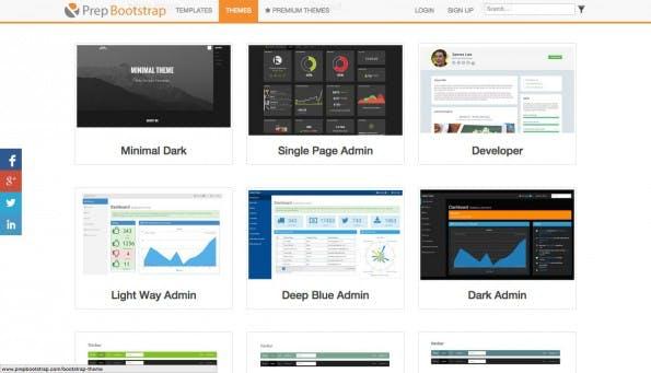 PrepBootstrap ist eine weitere Quelle für kostenlose Bootstrap-Themes. (Screenshot: PrepBootstrap)