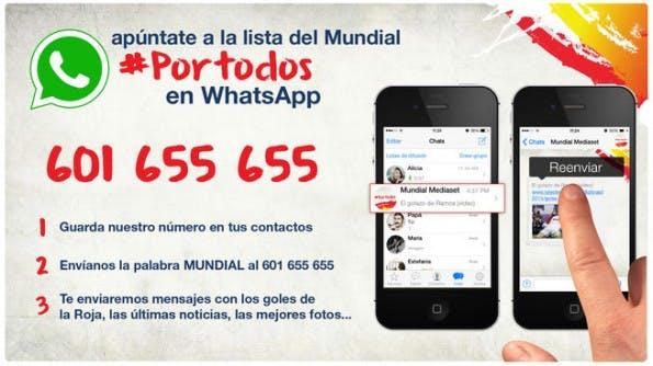 """Traffic über den Share-Button: Mit der App """"La Roja"""" des Medienunternehmens Mediaset, können spanische Fußballfans themenbezogene Inhalte mit ihren Kontakten teilen. (Screenshot: telecinco.es)"""