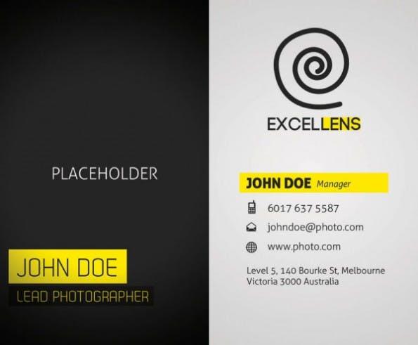 sophisticated business card template psd visitenkarten - Muster Visitenkarten