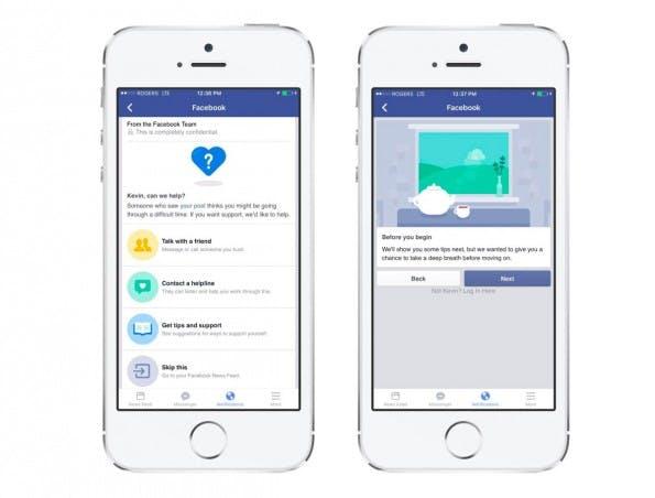 Facebook veröffentlicht den Suizid-Button zur Selbstmord-Prävention global. (Grafik: Facebook)