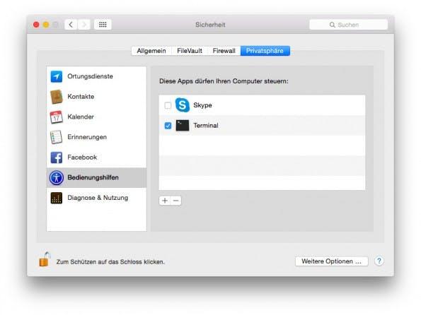 iMessage im Terminal: Letztlich greift die Lösung per AppleScript direkt auf die Nachrichten-App zu. (Screenshot: OS X)