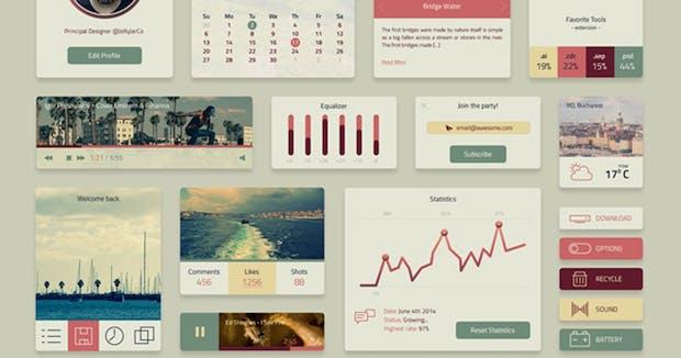 15 atemberaubende UI-Kits als Photoshop-Vorlagen