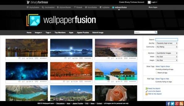 Desktop-Hintergründe findet ihr auf wallpaperfusion für so ziemlich jedes Einsatzgebiet. (Screenshot: wallpaperfusion)