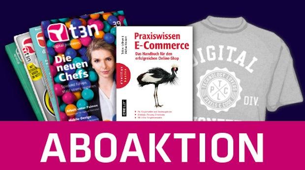 t3n-Jahresabo mit gratis E-Commerce-Buch!