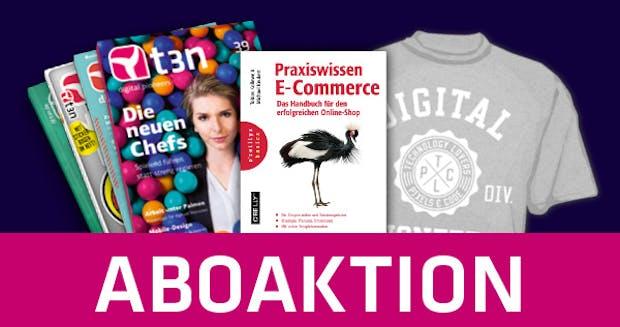 t3n-Jahresabo mit gratis E-Commerce-Buch! [t3n-Aktion]