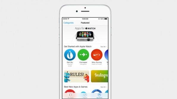 Nach iOS-8.2-Update: Apps für die Apple Watch werden über iPhone geladen. (Screenshot: Apple)