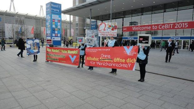 China, das diesjährige Partnerland der CeBIT, ruft auch Kritiker auf den Plan. (Foto: t3n)