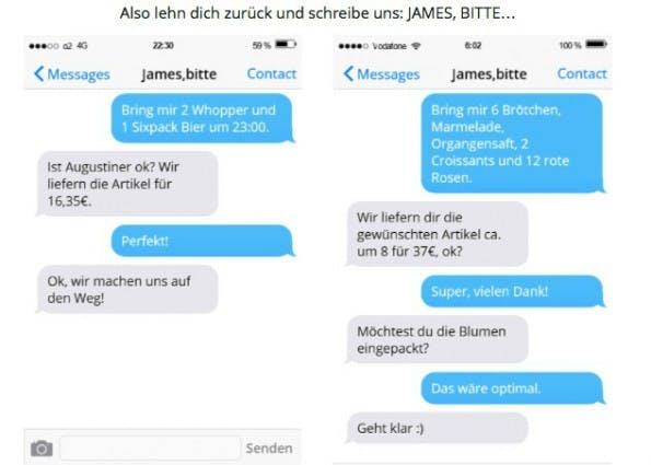 Bestelldialog bei James, bitte. (Screenshot: Doido)