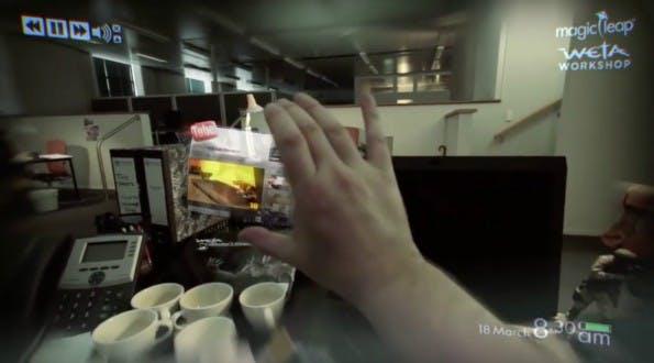 Magic Leap: So könnte Büroarbeit mit Augmented-Reality-Technik in Zukunft ausschauen. (Screenshot: Youtube)