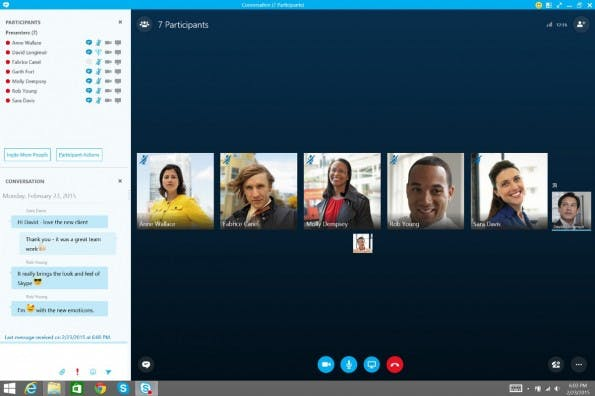 Office 2016: Skype for Business ersetzt zukünftig Lync. (Screenshot: Microsoft)
