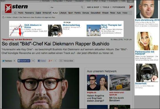Werbung auf Stern.de, die trotz aktiviertem AdBlocker ausgeliefert wurde (Screenshot: stern.de)