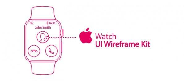 Apple Wach: Auch einige UI-Kits wurden bereits veröffentlicht. (Grafik: Craig Johnston)