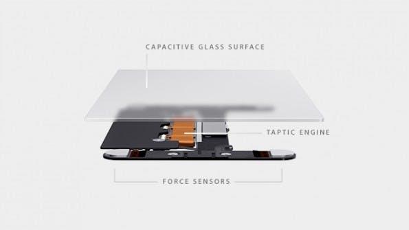 """Das neue """"Force Touch Trackpad"""" kann unterscheiden wie stark der Nutzer drückt. Außerdem gibt es haptisches Feedback durch Vibration. (Foto: Apple)"""
