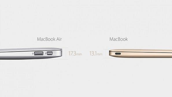 Das MacBook ist nur noch 1,3 Zentimeter dick an seiner stärksten Stelle. (Foto: Apple)