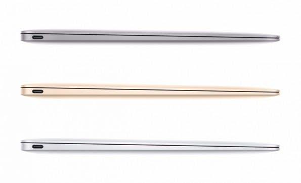Das MacBook kommt nun in den gleiche Farben wie Smartphone und Tablet: Silber, Grau und Gold. (Foto: Apple)