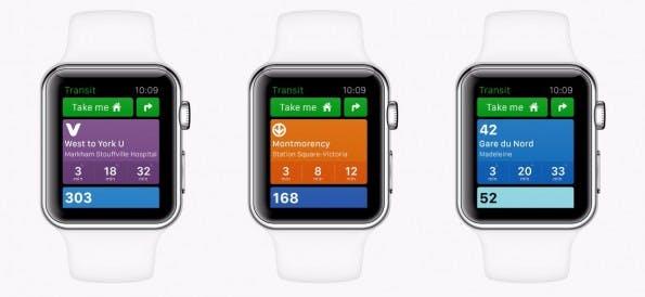 Apple Watch: Transit will euch auf auf der Smartwatch durch den Nahverkehr leiten. (Bilder: Transit)