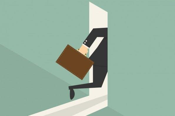 Das Meeting bringt nichts? Dann nix wie raus. (Grafik: Shutterstock / Dooder)