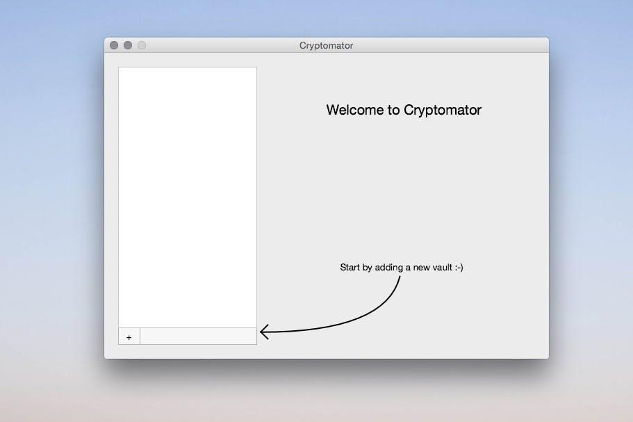 Die Nutzung von Cryptomator ist denkbar einfach. (Screenshot: t3n/Cryptomator)
