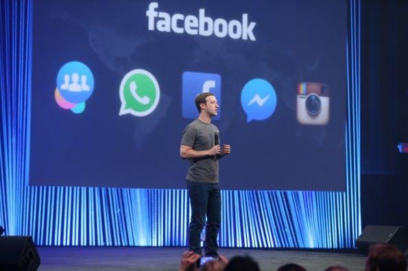 Facebook-Gründer Mark Zuckerberg auf der Entwicklerkonferenz f8 in San Francisco. (Foto: Facebook)