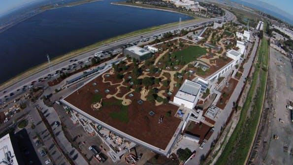 Das neue Facebook-Hauptquartier. Sitzt hier das Medienunternehmen der Zukunft? (Foto: Facebook)