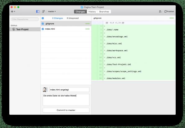 GitHub für Mac