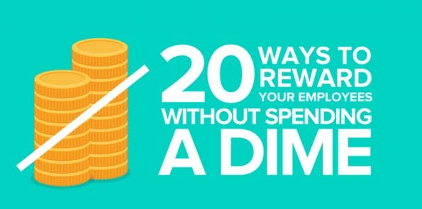 20 kostenlose Wege um eure Mitarbeiter glücklicher zu machen. (Grafik: Officevibe)