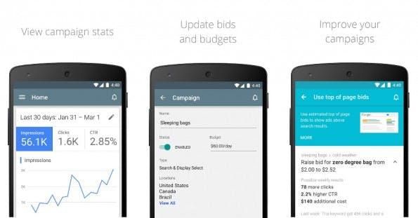 Google stellt AdWords-App für Android vor. (Grafik: Google)