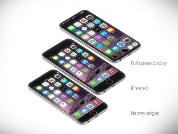 iPhone-7-Konzept: Martin Hajek will den Home-Button direkt ins Display integrieren. (Grafik: Martin Hajek)