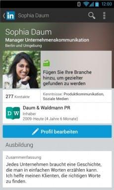 Auch die Apps – hier die Android-Version – hat LinkedIn optisch überarbeitet. (Bild: LinkedIn)