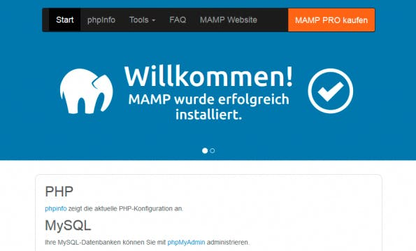 Eine XAMPP-Alternative für Mac-Nutzer. (Screenshot: eigene MAMP-Installation)