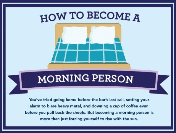So wirst du ein Morgenmensch. (Grafik: Greatist)