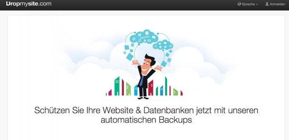 (Screenshot: dropmysite.com)