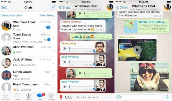 WhatsApp für die Team-Kommunikation? Scheint gar nicht so abwegig zu sein. (Screenshots: WhatsApp)