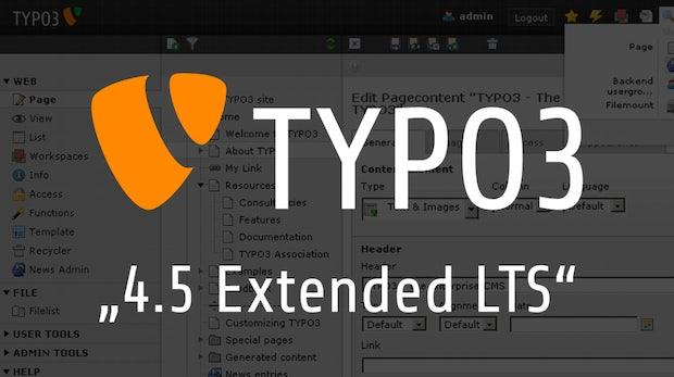 Nach offiziellem Support-Ende: Bezahlte Updates für TYPO3 CMS 4.5 möglich