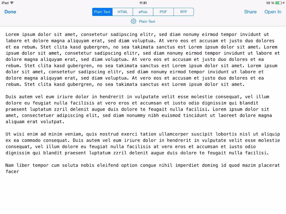 DAs Plain-Text-Foramt