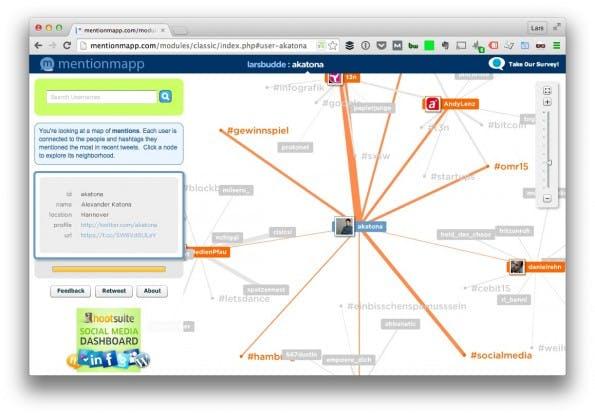 (Screenshot: t3n/ Mention Map)