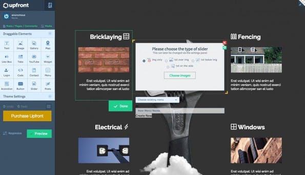 WordPress: Mit Upfront bearbeitet ihr das Frontend per Drag-and-Drop. (Screenshot: Upfront)