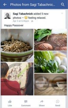 WhatsApp-Integration in Facebook: Send-Button aufgetaucht. (Screenshot: Geektime)