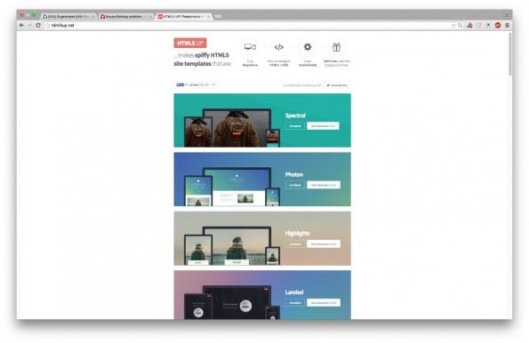 HTML5 CSS Templates 8