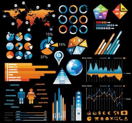 Kostenlos Infografik Template Vektor Kit 5