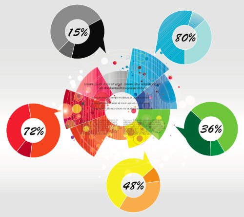 Kostenlos Infografik Template Vektor Kit 7