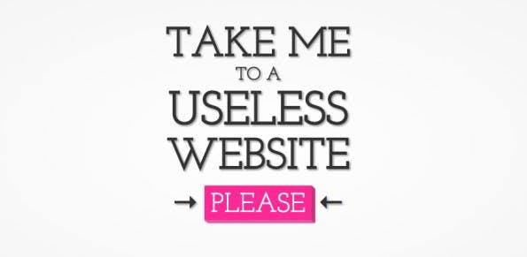 Prokrastination leicht gemacht: The Useless Web.